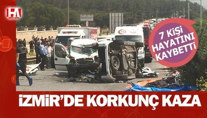 İzmir'de korkunç kaza.. 7 kişi…