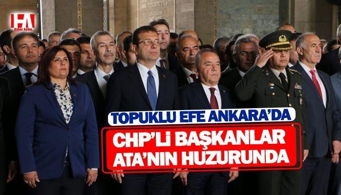CHP'li başkanlar Ata'nın huzurunda
