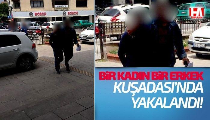 Kuşadası'nda 2 kişi yakalandı