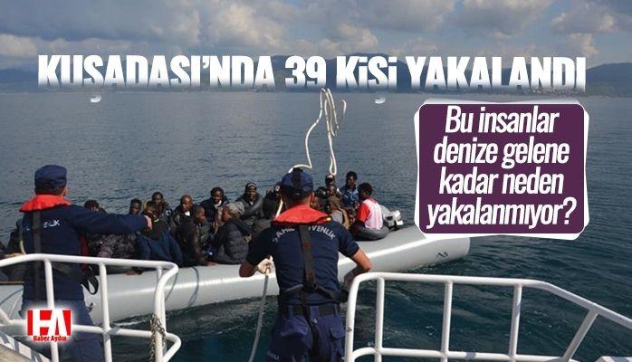 Kuşadası'nda 39 kişi yakalandı! 14'ü çocuk..