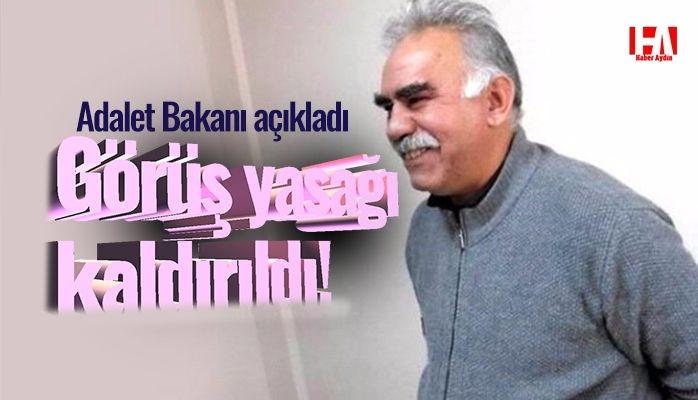 Adalet Bakanı açıkladı.. Öcalan'la görüşme yasağı kaldırıldı
