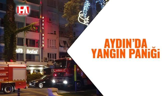 Aydın'da yangın paniği