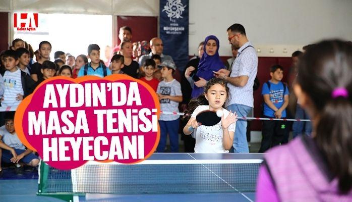 Aydın'da masa tenisi heyecanı