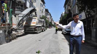 Büyükşehir Nazilli'de sıcak asfalt çalışması başlattı