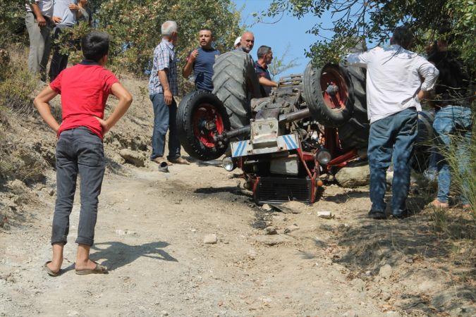 Manisa'da traktör kazası: 1 ölü, 1 yaralı