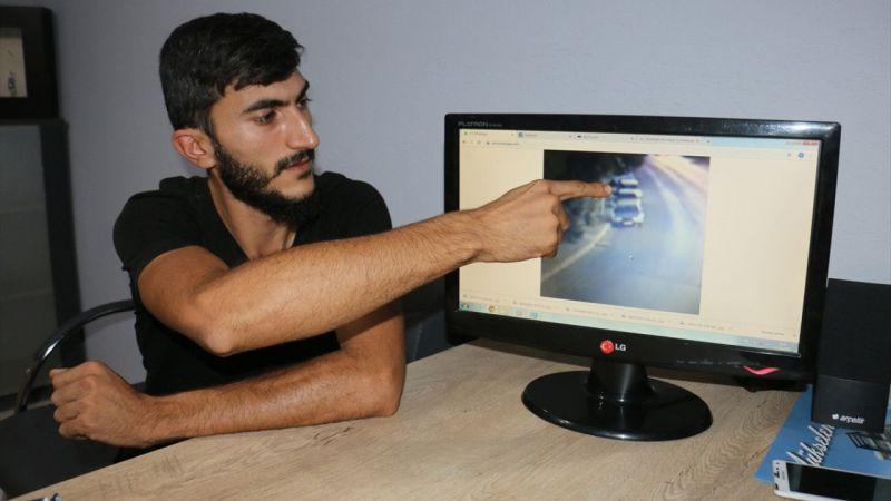 Aydın'da araç kundaklama anı kameraya yansıdı
