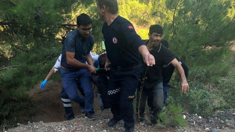 Denizli'de öğretmen kazada yaralandı
