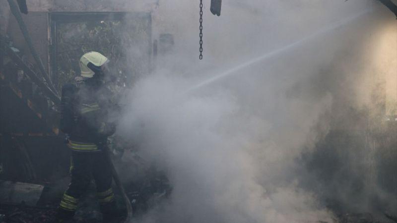 Denizli'de cami yangını