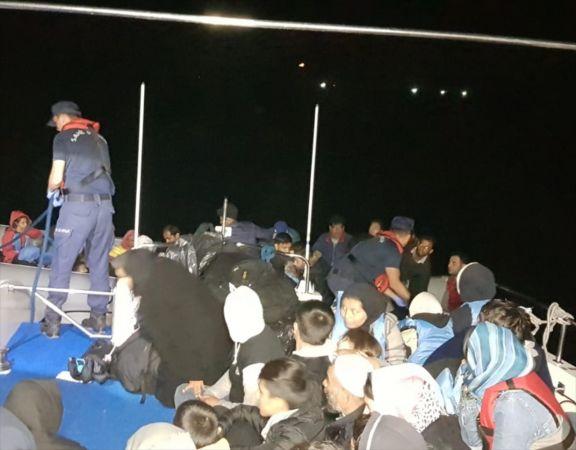 Didim'de 132 düzensiz göçmen yakalandı