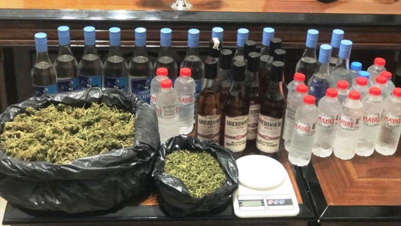 Alaşehir'de sahte içki ve uyuşturucu operasyonu