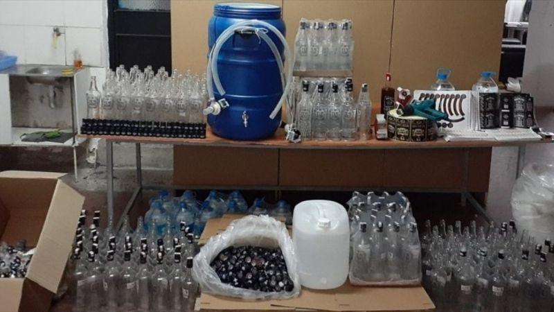 Denizli'deki kaçak içki operasyonunda 3 tutuklama