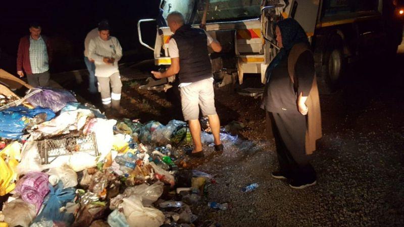 Muğla'da 10 bin lira bulunan poşet çöp kamyonundan çıktı