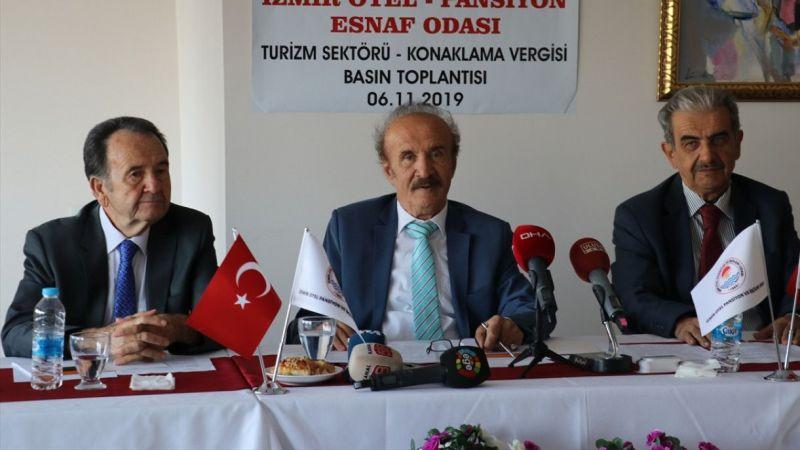 """İzmir Otel Pansiyon ve İşçileri Odasından, """"Konaklama Vergisi"""" tepkisi"""