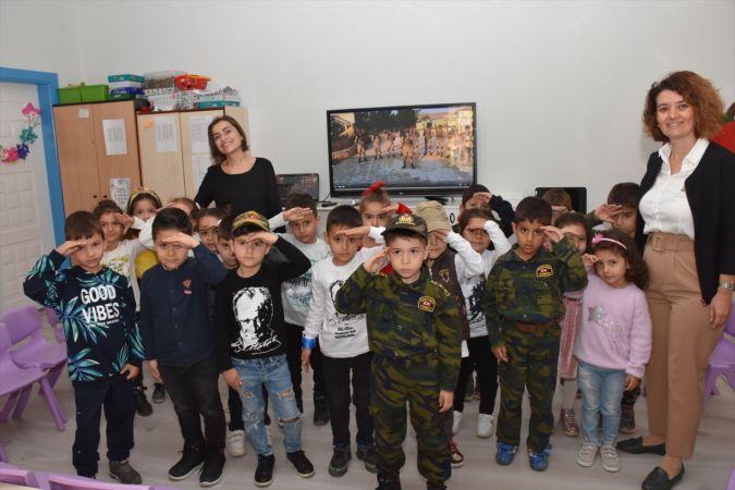 Aydınlı çocukların mektubuna Afrin'deki Mehmetçik'ten videolu teşekkür