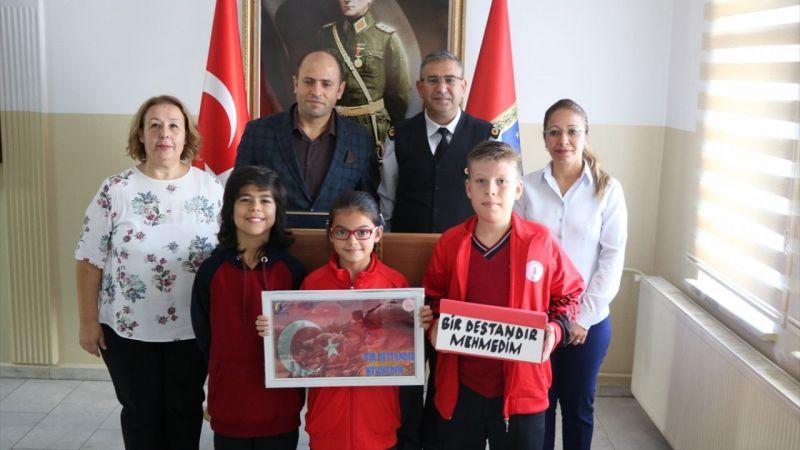 Aydınlı öğrencilerden Mehmetçik'e mektup