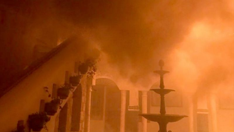 Muğla'da otelde yangın çıktı
