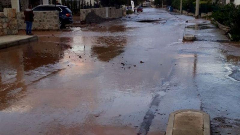 Bodrum'da içme suyu hattında patlama