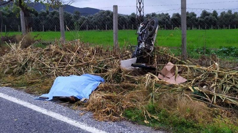 İzmir'de motosikletiyle kaza yapan sürücünün cesedi bulundu