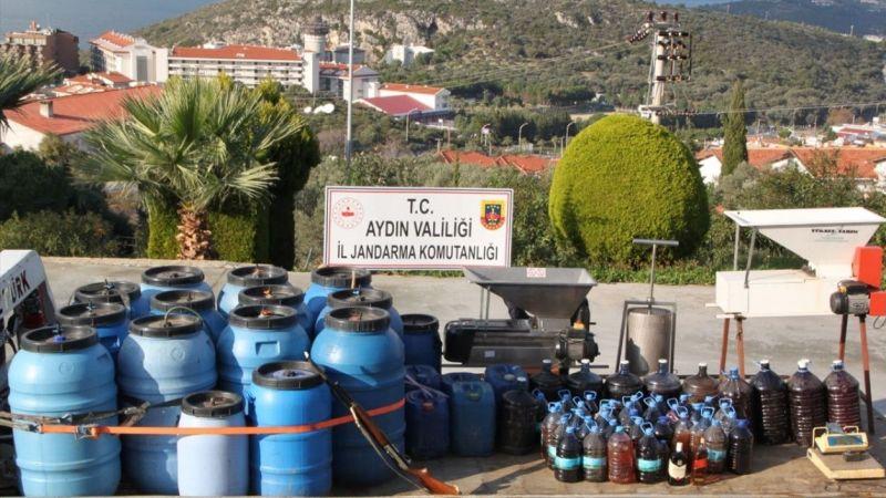 Aydın'da 3 tondan fazla sahte şarap ele geçirildi