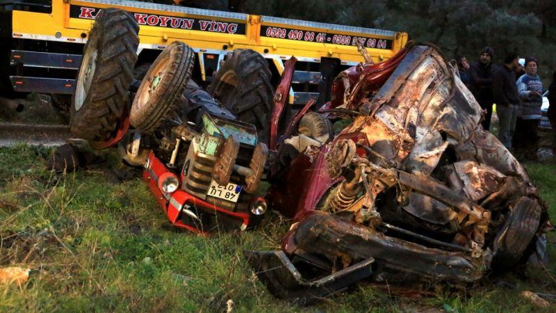 Muğla'da devrilen traktörün sürücüsü öldü