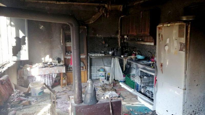 Muğla'da evde çıkan yangın hasara neden oldu