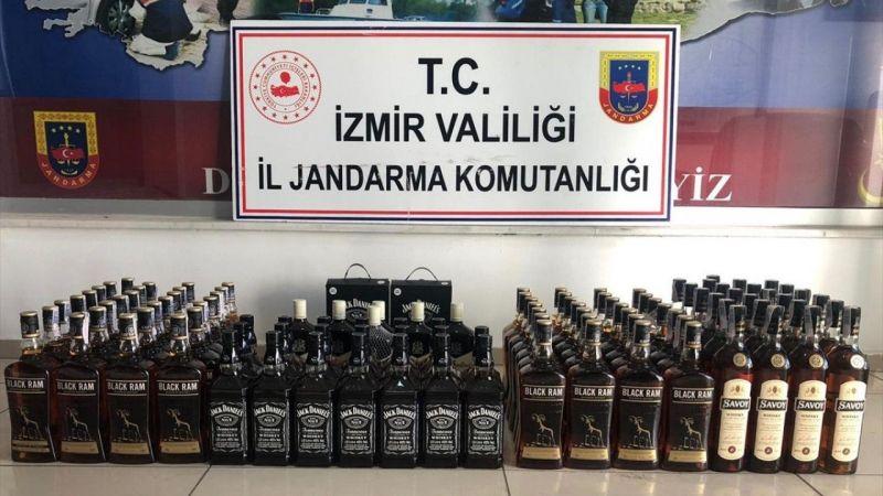 İzmir'de 112 litre kaçak içki ele geçirildi