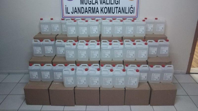 Muğla'da jandarma bin litre faturasız etil alkol ele geçirdi