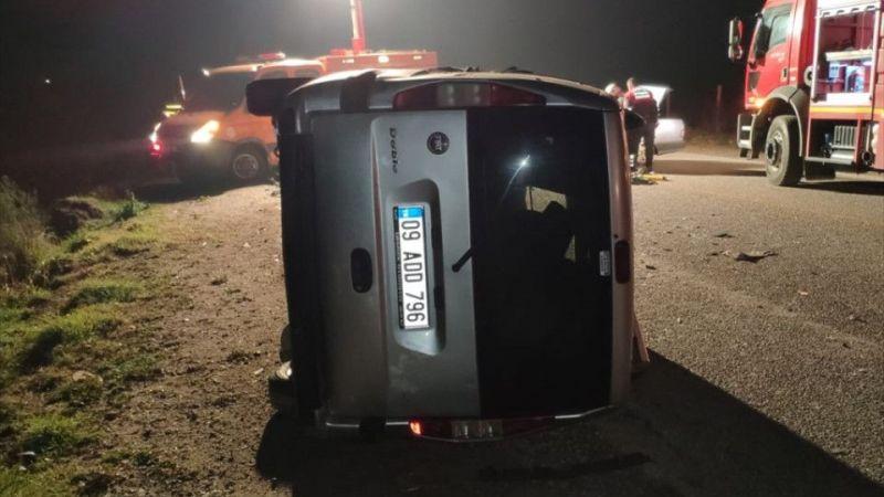 Aydın'da hafif ticari araçla otomobil çarpıştı: 1 ölü, 1 yaralı