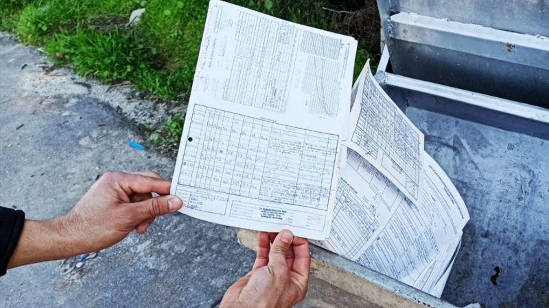 Muğla'da imha edilmesi gereken sağlık evrakları ve dosyaları çöpte bulundu