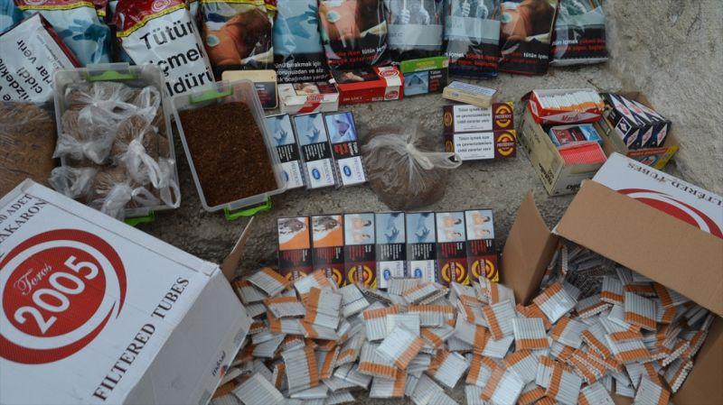 Kütahya'da kaçak tütün operasyonu