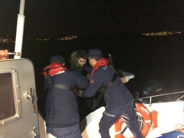 Muğla'da bir teknede 16 düzensiz göçmen yakalandı