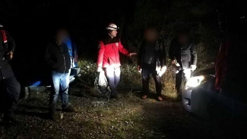 İzmir'de dağda kaybolan 3 kişi için arama kurtarma çalışması başlatıldı
