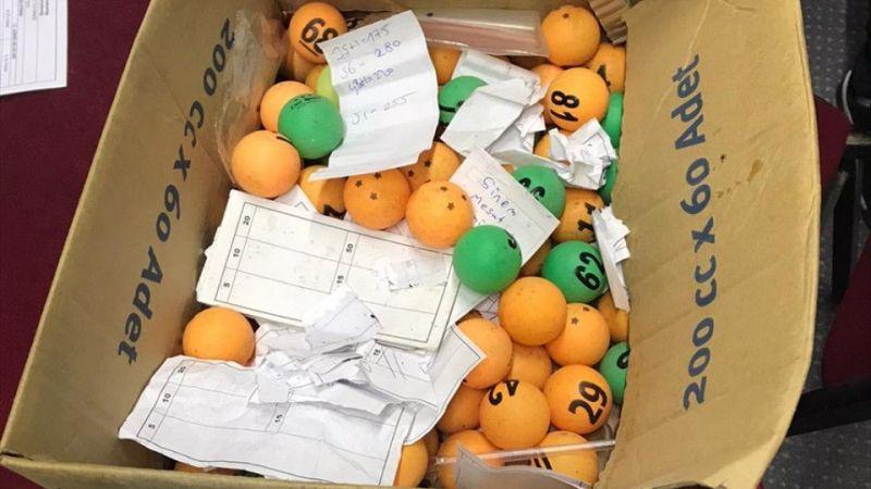 Tombala oynatılan adresteki 75 kişiye işlem yapıldı