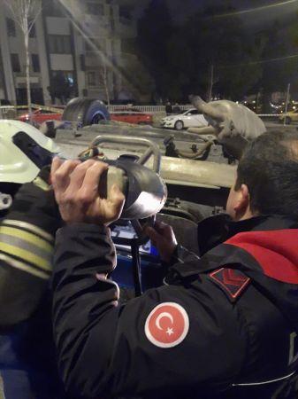 Denizli'de ticari taksi ile otomobil çarpıştı: 1 ölü, 3 yaralı