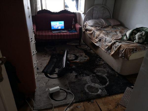 Maden İşçisi evindeki yangında hayatını kaybetti
