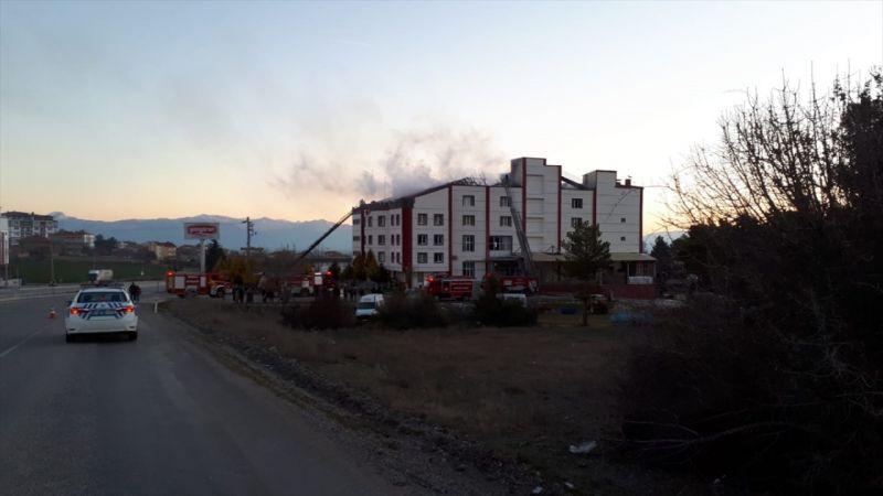 Denizli'de kuru yemiş fabrikasında yangın çıktı