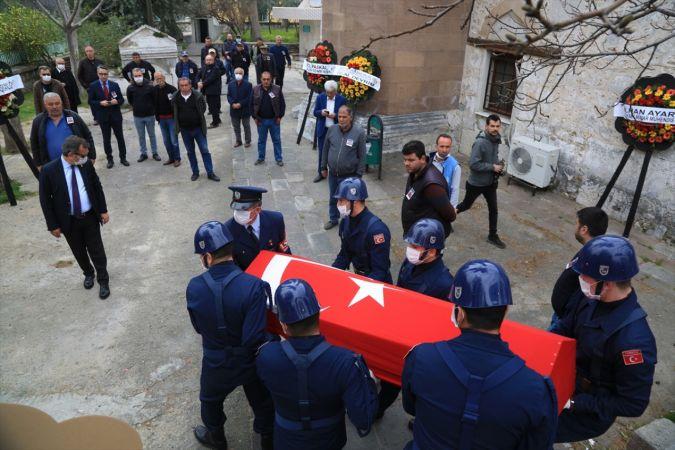 Muğla'da hayatını kaybeden emekli hakim askeri törenle toprağa verildi