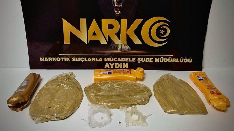Aydın'da şampuan kutusunda uyuşturucu taşıyan iki kişi tutuklandı