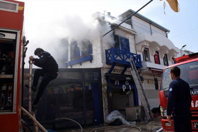 Muğla'da iş yerinde çıkan yangın söndürüldü