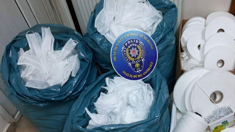 İzmir'de kaçak üretilen maskelere el konuldu