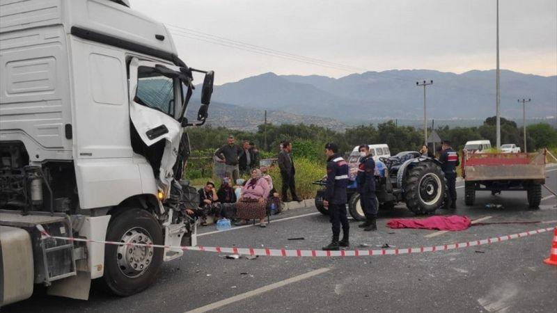 Aydın'da beton mikseriyle çarpışan traktörün 14 yaşındaki sürücüsü öldü