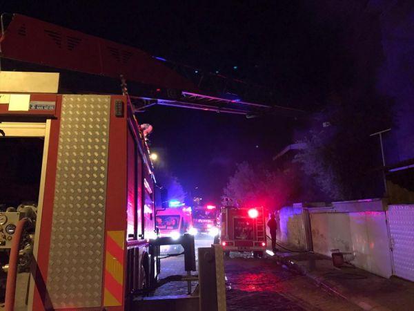Aydın'da çıkan ev yangınında yaşlı çift dumandan etkilendi