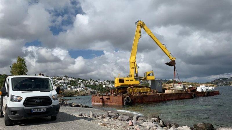 Bodrum'da sitenin sahil kısmında kaçak iskele yapıldığı iddiası