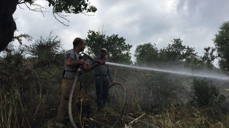 Tire'de makilik alanda çıkan yangında 15 dönüm alan zarar gördü