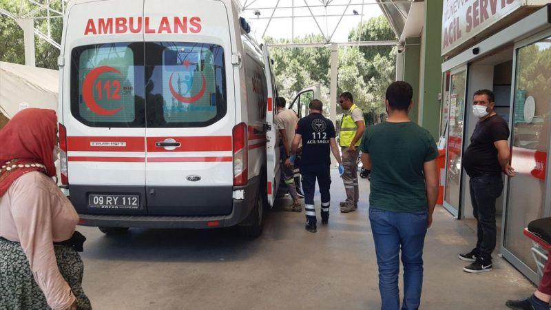 Aydın'da iş makinasıyla kesim yapan işçi yaralandı