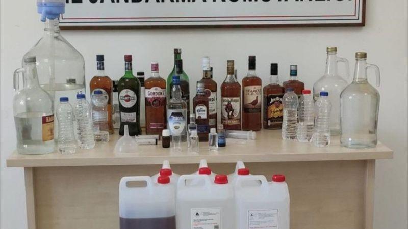 Muğla'da sahte içki operasyonunda 2 şüpheli yakalandı