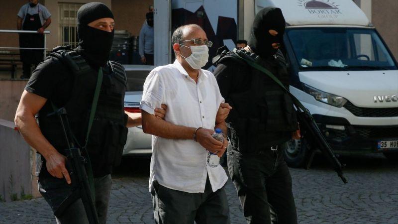 Kırmızı bültenle aranırken İzmir'de yakalanan DHKP/C üyesi, adliyeye sevk edildi