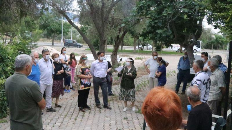 İzmir'de mahalle sakinlerinden baz istasyonu tepkisi