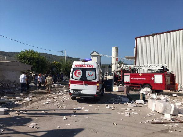 Muğla'da strafor fabrikasının buhar kazanı patladı: 1 yaralı
