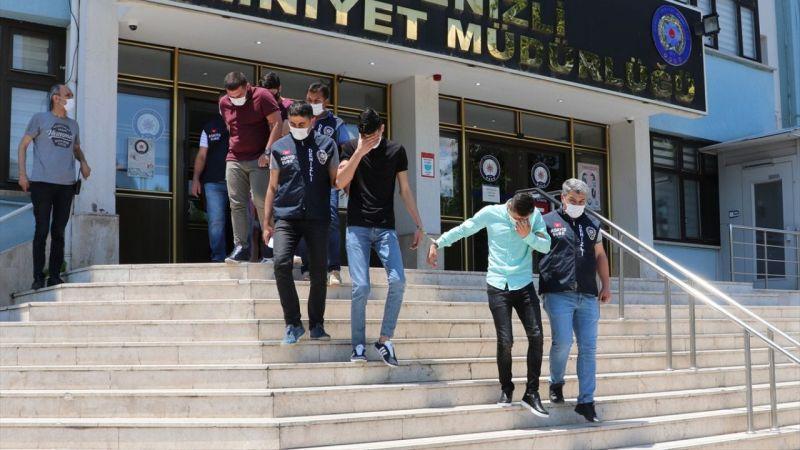 Denizli'de otomobilden hırsızlık yapan 4 şüpheli tutuklandı